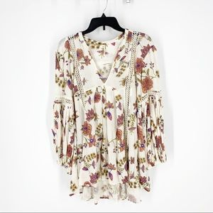 Free people: oversized floral top size Xs